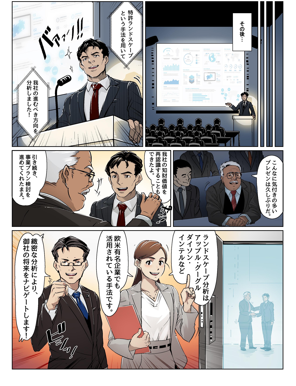 特許のランドスケープ活用漫画③