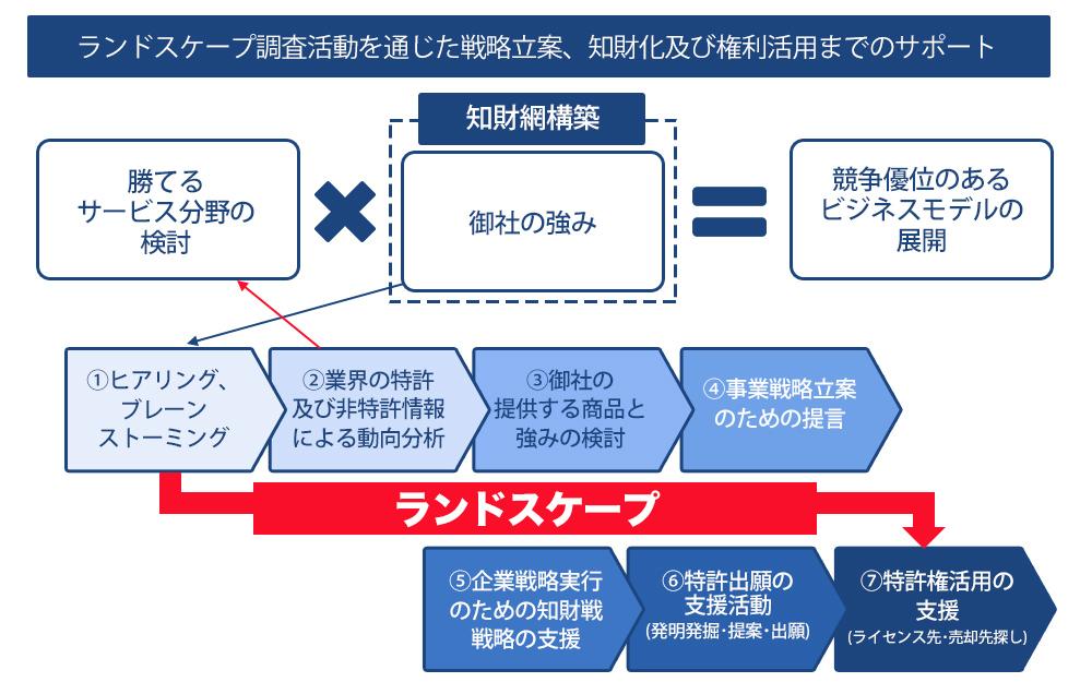 ランドスケープ分析の流れ・説明図